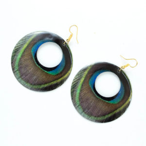 printed round earring