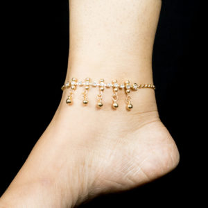 Golden AD bead anklet